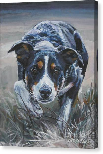 Border Collies Canvas Print - Border Collie by Lee Ann Shepard