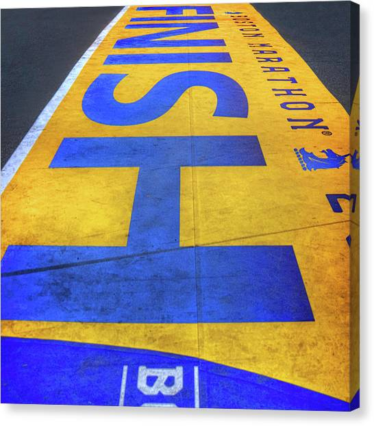 Finish Line Canvas Print - Boston Marathon Finish Line   by Joann Vitali