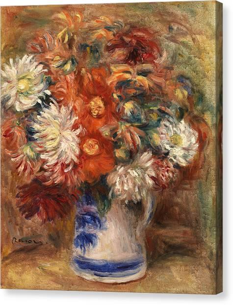 Pierre-auguste Renoir Canvas Print - Bouquet by Pierre-Auguste Renoir