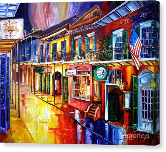 Big Red Canvas Print - Bourbon Street Red by Diane Millsap