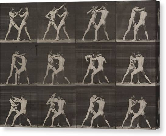 Mma Canvas Print - Boxing by Eadweard Muybridge