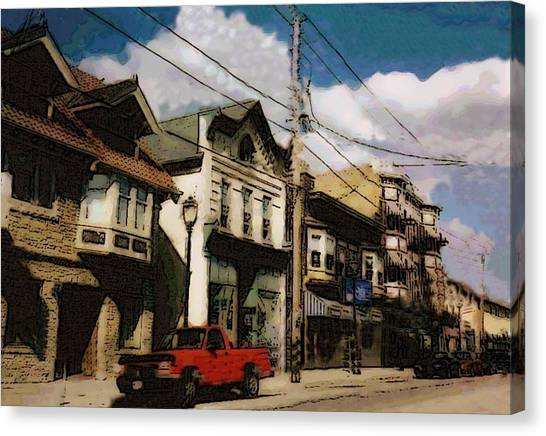 Brady Street Scene Canvas Print