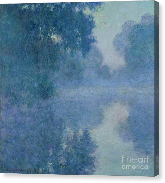 Impressionist Canvas Print - Branch Of The Seine Near Giverny by Claude Monet