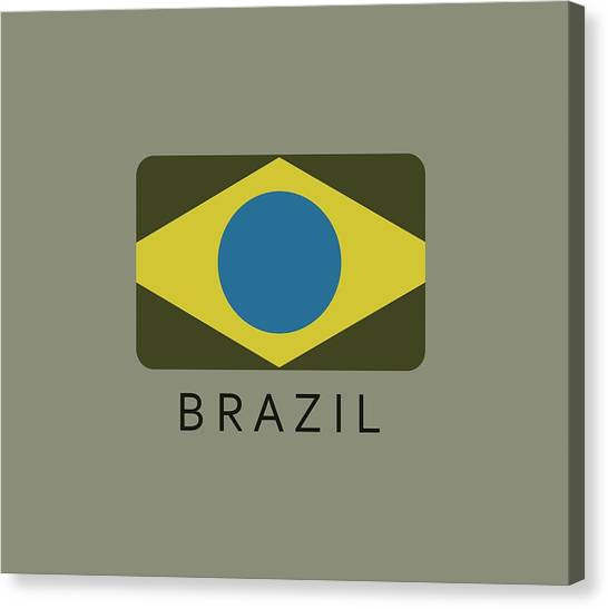 Independent Canvas Print - Brazil Flag by Marco Livolsi