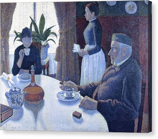 Divisionism Canvas Print - Breakfast by Paul Signac