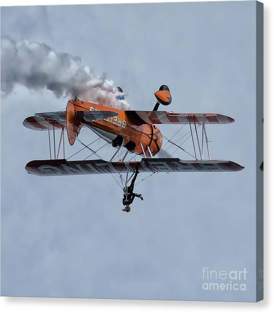 Biplane Canvas Print - Breitling Wing Walker by Smart Aviation