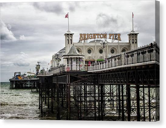 City Sunsets Canvas Print - Brighton Pier by Martin Newman
