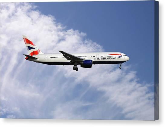 Boeing Canvas Print - British Airways Boeing 767-336 by Smart Aviation