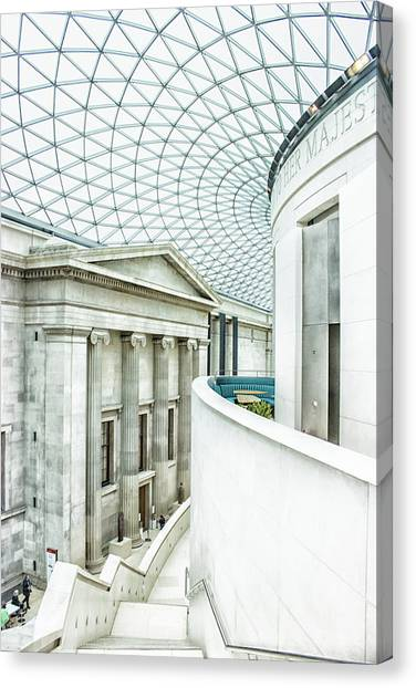 The British Museum Canvas Print - British Museum by Martin Newman