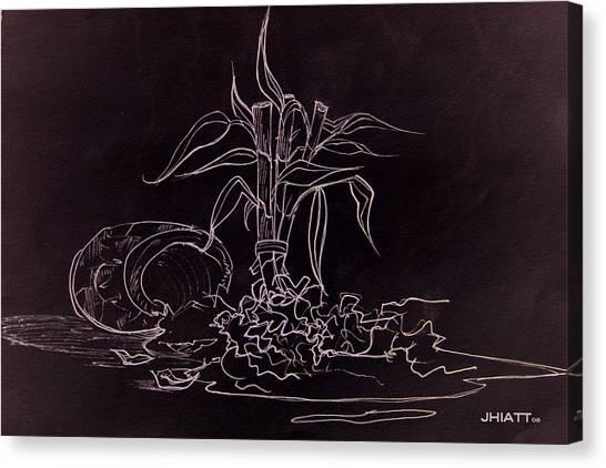 Broken Pot Bamboo Canvas Print