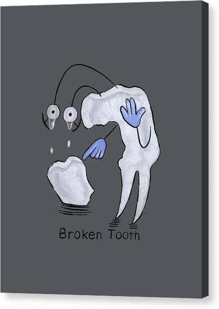Cavity Canvas Print - Broken Tooth  by Anthony Falbo