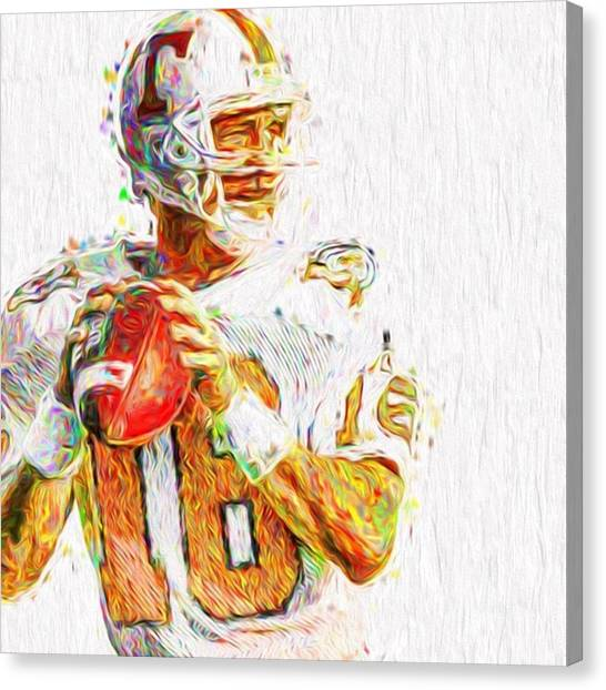 Famous Artists Canvas Print - @broncos @peyton__manning__18 by David Haskett