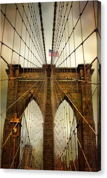 Brooklyn Bridge Twilight Canvas Print