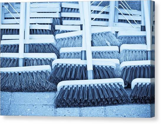 Stiff Canvas Print - Brooms by Tom Gowanlock