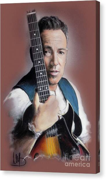 Bruce Springsteen Canvas Print - Bruce Springsteen by Melanie D