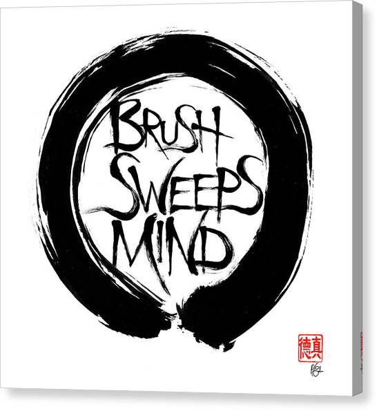 Brush Sweeps Mind Canvas Print