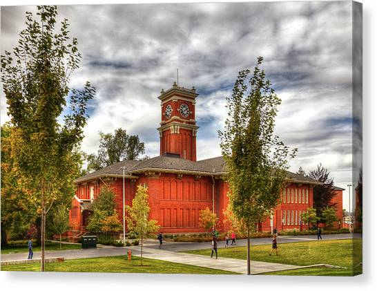 Pac 12 Canvas Print - Bryan Hall On The Wsu Campus by David Patterson