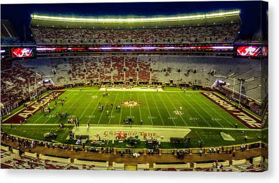 The University Of Alabama Canvas Print - Bryant-denny Stadium by Kevin Senter