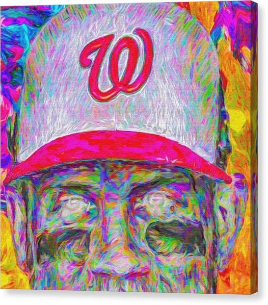 Mlb Canvas Print - #bryceharper #mvp #washingtondc by David Haskett II
