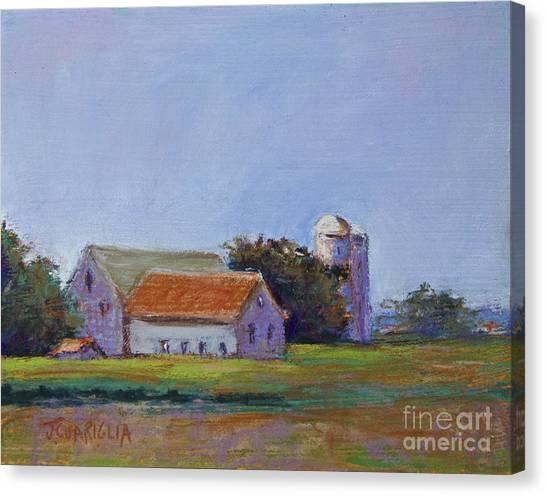 Bucks County Barn Canvas Print by Joyce A Guariglia