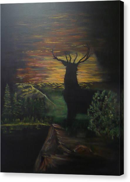 Bucks Last Light Canvas Print