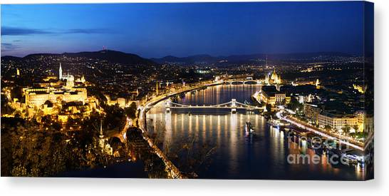 Budapest. View From Gellert Hill Canvas Print