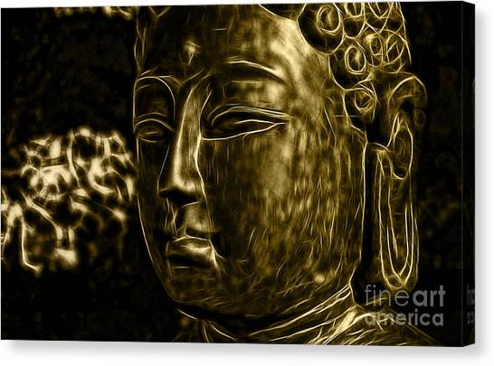 Serenity Prayer Canvas Print - Buddah Collection by Marvin Blaine