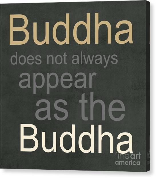 Buddha Canvas Print - Buddha by Linda Woods