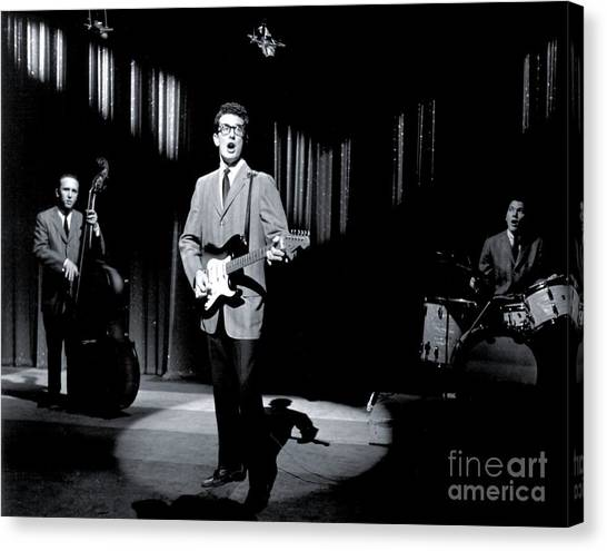 Crickets Canvas Print - Buddy Holly Promotional Photo. by The Titanic Project