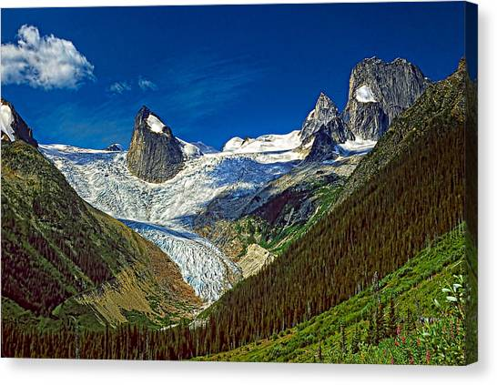 Canada Glacier Canvas Print - Bugaboo Spires by Steve Harrington