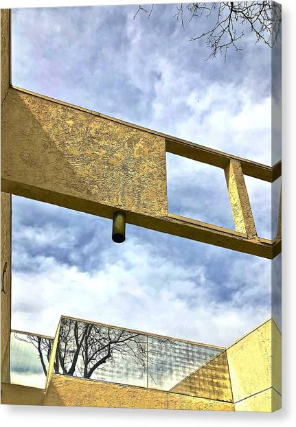 Building Canvas Print by Gillis Cone