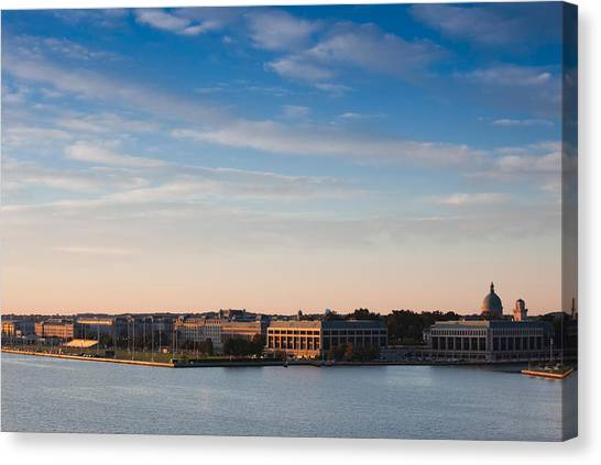 Severn River Canvas Print - Buildings At Waterfront, Us Naval by Panoramic Images