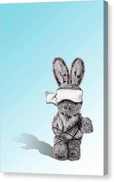 Bunny Bondage Canvas Print