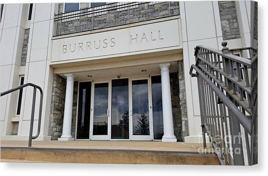 James Madison University Jmu Canvas Print - Burruss Hall by Ben Schumin