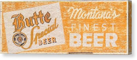 Butte Special Beer Ghost Sign Canvas Print