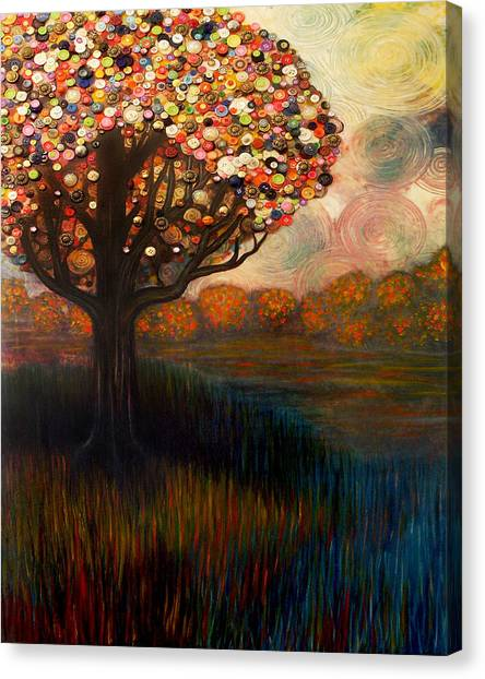 Button Tree 0001 Canvas Print