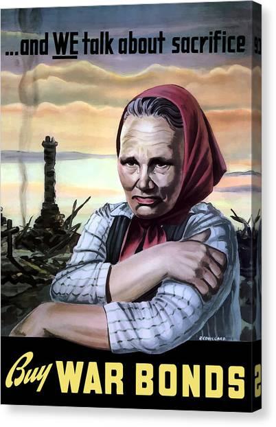 Ruins Canvas Print - Buy War Bonds by War Is Hell Store