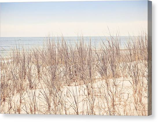 Seagrass Canvas Print - By The Beautiful Sea by Colleen Kammerer