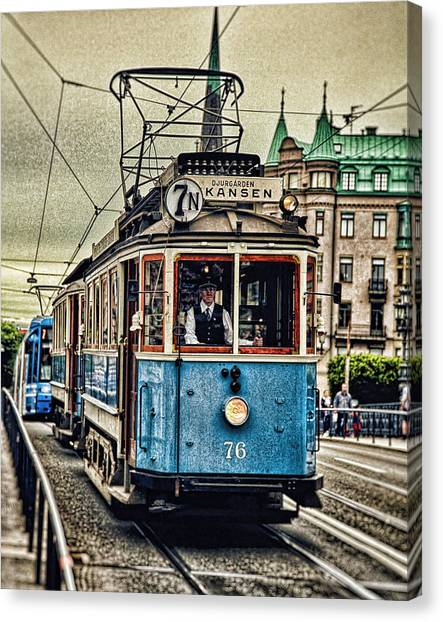 Lucky Canvas Print - Cable Car Stockholm by Lucky Chen