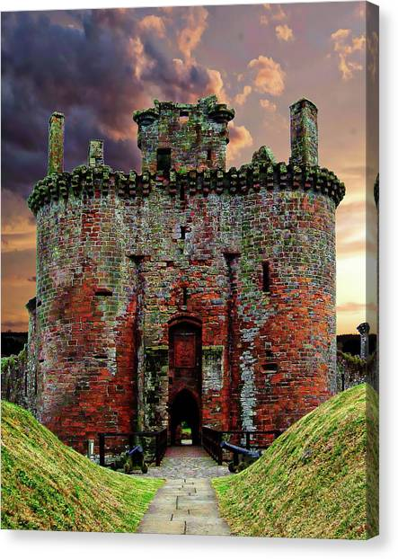 Caerlaverock Castle Canvas Print