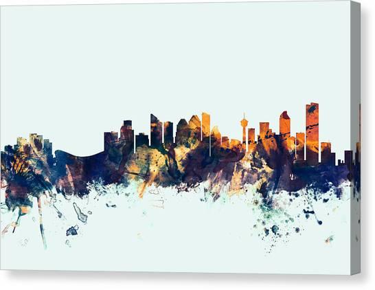 Canada Canvas Print - Calgary Canada Skyline by Michael Tompsett