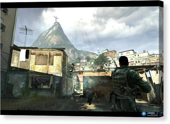 Call Of Duty Canvas Print - Call Of Duty 4 Modern Warfare by Dorothy Binder