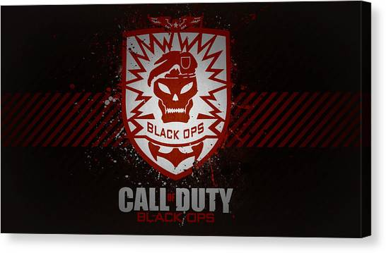 Call Of Duty Canvas Print - Call Of Duty Black Ops by Dorothy Binder
