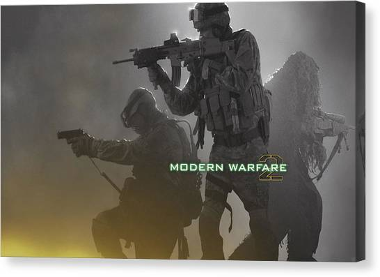 Call Of Duty Canvas Print - Call Of Duty Modern Warfare 2 by Barbara Elvins