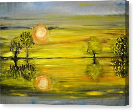 Calmness Canvas Print by Evelina Popilian