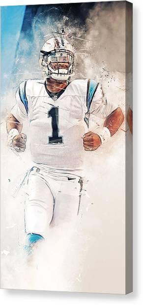 Cam Newton Canvas Print - Cam Newton by Afterdarkness