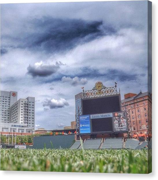 Orioles Canvas Print - #camdenyards #baltimore #maryland by Pete Michaud