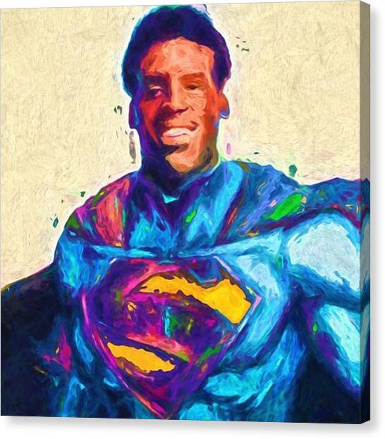 Superbowl Canvas Print - @cameron1newton #camnewton by David Haskett