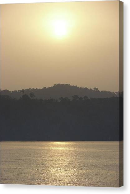 Cameroon Sunrise Africa Canvas Print