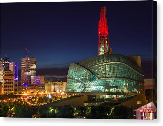 Canadian Museum For Human Rights Canvas Print by Bryan Scott